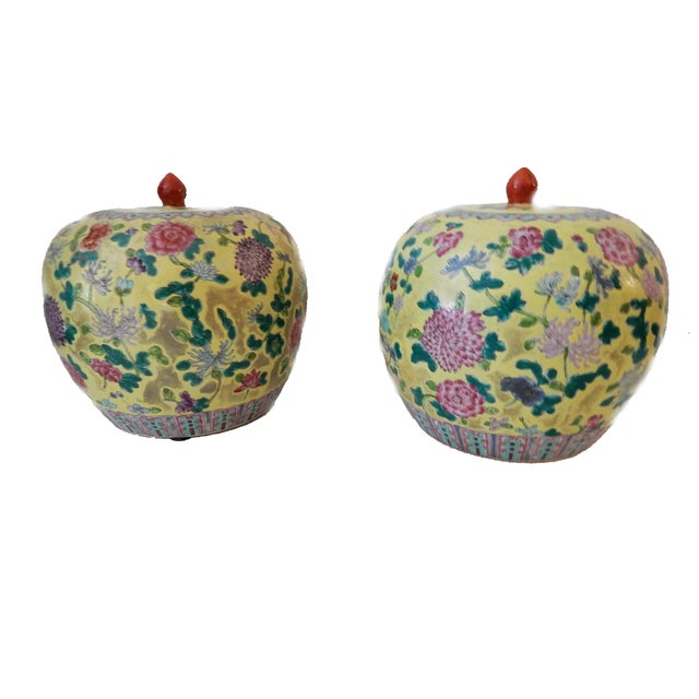 Famille Jaune Ginger Jars - A Pair - Image 3 of 8