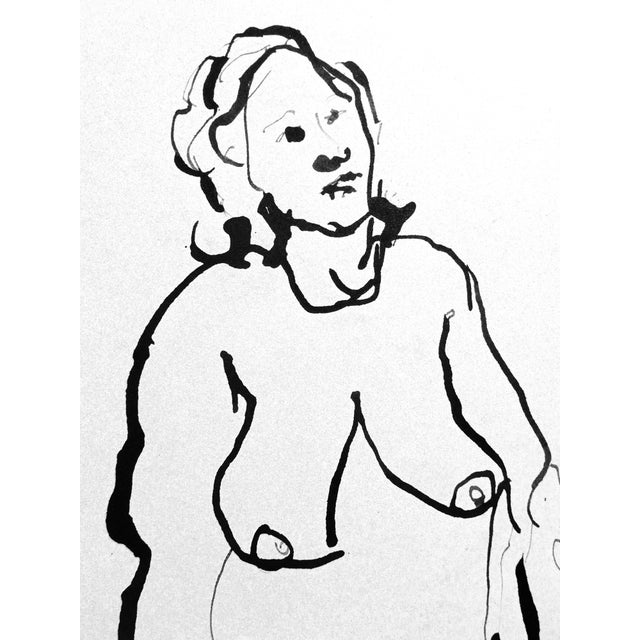 The Conversation Ink Drawing - Image 7 of 7