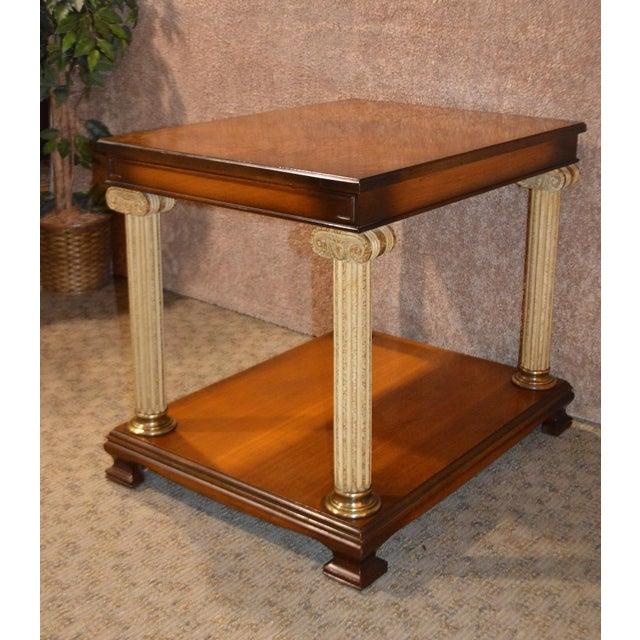 Vintage Neo-Classic Style Corenthian Column Leg Side Tables - a Pair For Sale - Image 10 of 13