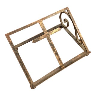 Antique Brass Book Stand For Sale