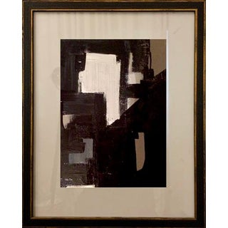 Contemporary Abstract Mid-Century Inspired Acrylic Painting, Framed For Sale
