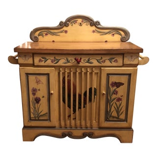 1990s French Country Hand Painted Commode/Cabinet For Sale