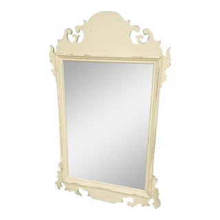 Vintage Shabby Chic Wood Wall Mirror