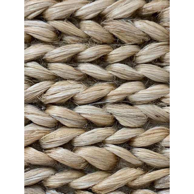 """Hand Woven Jute Rug-5'5"""" X 7'10"""" For Sale - Image 4 of 9"""