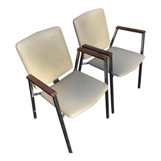 1960s Vintage Retro Vinyl Chairs- A Pair For Sale