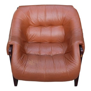 1960s Vintage Percival Lafer Brazilian Modern Rosewood Lounge Chair For Sale