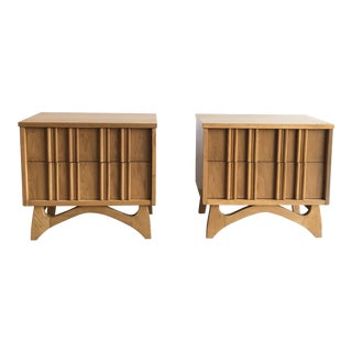 1960s Vintage Mid Century Sculptural Nightstands-a Pair For Sale