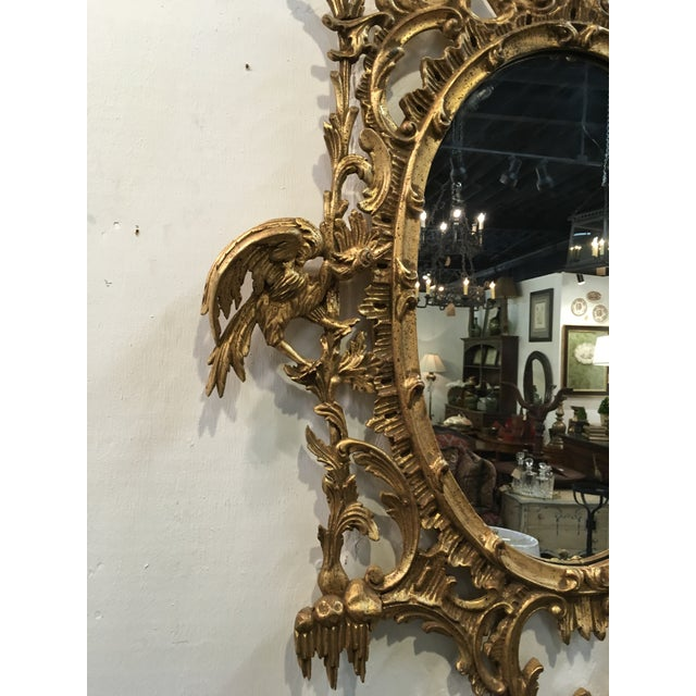 Labarge Chinese Chippendale Style Giltwood Mirror For Sale - Image 4 of 8