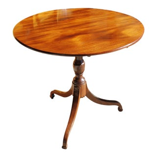 19th Century George III Period Mahogany Tilt Top Table For Sale
