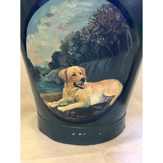 Antique Painted Metal Fire Bucket or Coal Skuttle Preview