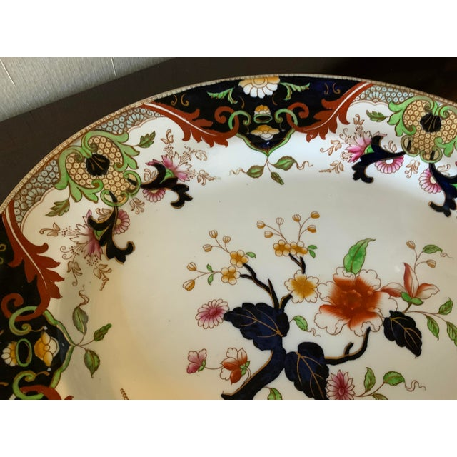 Ceramic Early 20th Century English Royal Doulton Matsumai Hand Painted Serving Platter For Sale - Image 7 of 11