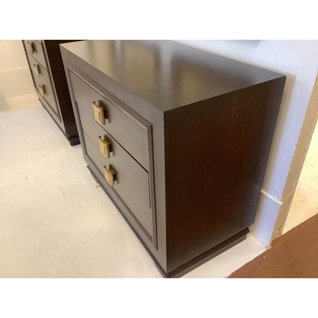Mid-Century Modern Art Deco Chests, a Pair, Futurama For Sale - Image 3 of 13