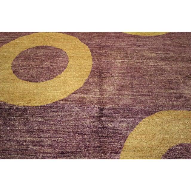 "Modern Purple Gabbeh Area Rug - 5'7"" x 8'2"" - Image 8 of 10"