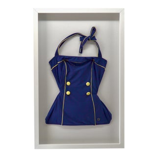 Vintage Women's Swim Suit Framed For Sale