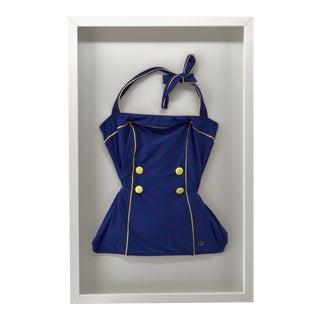 Vintage Women's Swim Suit Shadow Box Frame For Sale