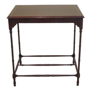 1990s Vintage Karges Rectangular Mahogany Occasional Table For Sale