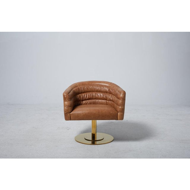 Cupa Brown Leather Chair - Image 2 of 5