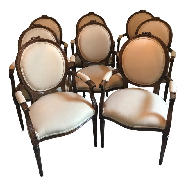 Cesar Seda Italian Hand-Crafted Dining Chairs - Set of 8 - Image 1 of 7