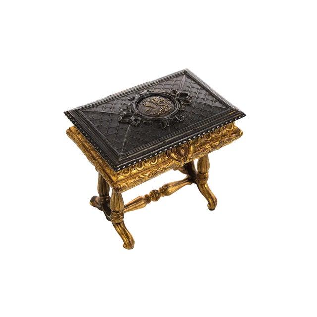 19th century Antique Gilt Bronze Jewelry Box- Miniature Sawing Box - Image 1 of 9
