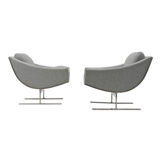 Pair of Kipp Stewart Arc Lounge Chairs For Sale