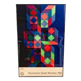 Image of Victor Vasarely Munich 1972 Olympics Lithograph Poster For Sale
