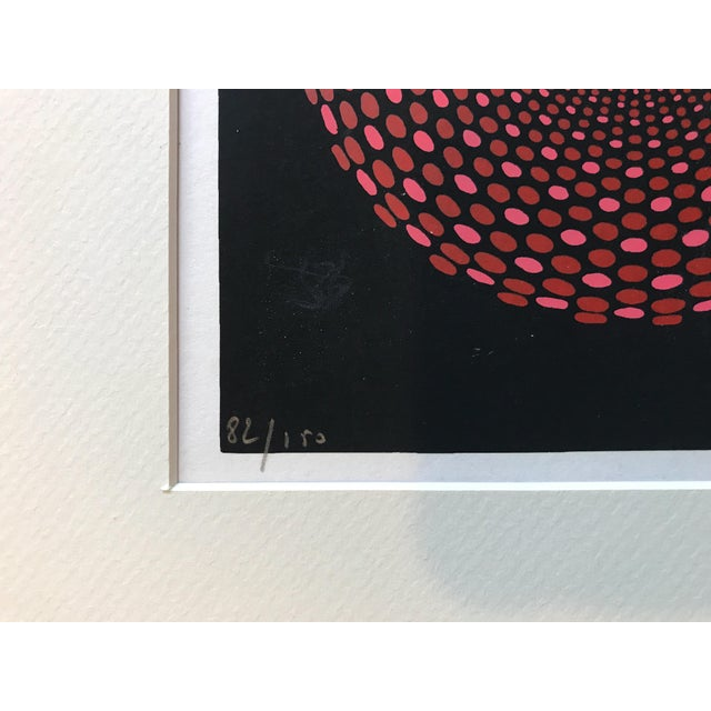 French Geometric Mid-Century Signed Print - Image 4 of 7