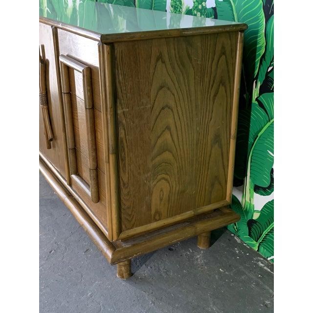 Polynesian Tiki Style Rattan Dresser For Sale - Image 4 of 11