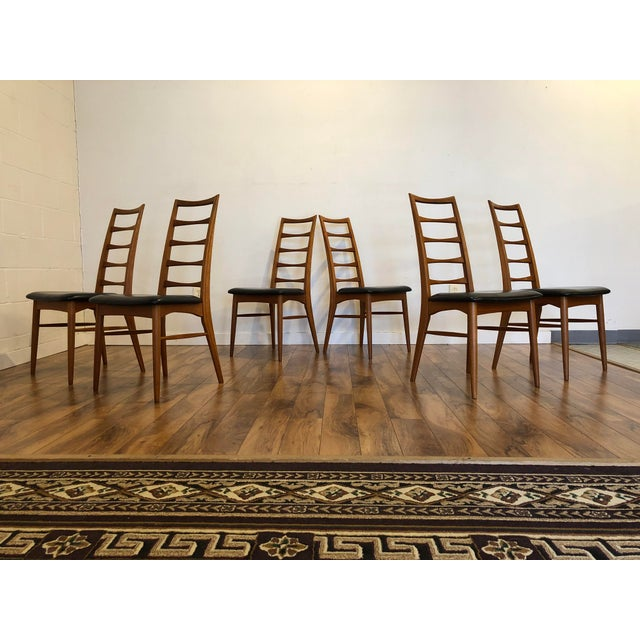 Koefoeds Hornslet Niels Koefoed for Koefoeds Hornslet Lis Teak Ladder Back Dining Chairs - Set of 6 For Sale - Image 4 of 13