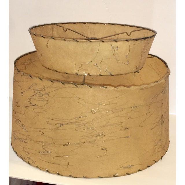 Mid-Century Atomic 2-Tier Fiberglass Lampshade - Image 3 of 6
