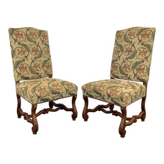French Country Style Dining Side Chairs by Fremarc Designs - Pair 2 For Sale
