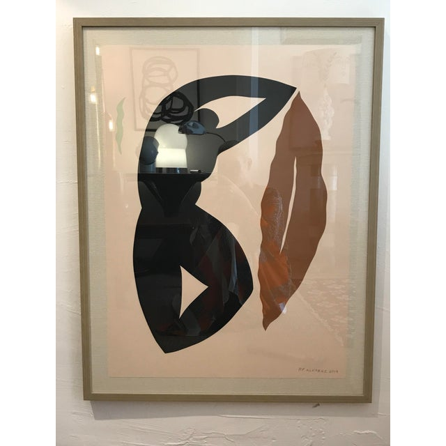 """""""Eve"""" by R.F. Alvarez. This work is part of the artist's Bacchanalia Series of cut paper, mounted on black matte board, in..."""