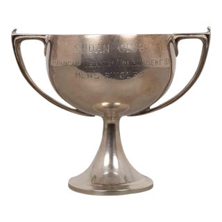Early 20th C. Sterling Silver Art Deco Cup Trophy 1931