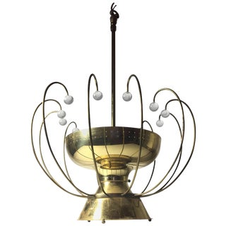 Lightolier Chandelier Ceiling Fixture Lamp For Sale