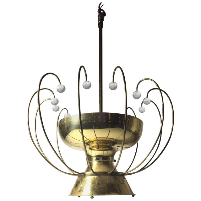 Lightolier Chandelier Ceiling Fixture Lamp For Sale