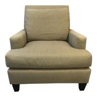 Cottage Oversized Upholstered Lounge Club Chair For Sale