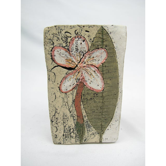 An unusual find by noted contemporary ceramicist Betsy Wolfston of Eugene, Oregon. This is a slab built box with...