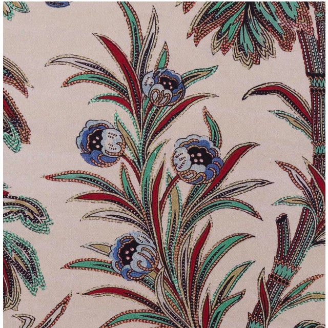 Boho Chic Boho Chic Indienne Floral Print Pillow For Sale - Image 3 of 4