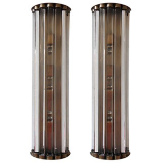 Cristallo Sconces / Flush Mounts by Fabio Ltd. - a Pair For Sale