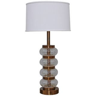 Paul Hansen Crackled Glass Table Lamp For Sale