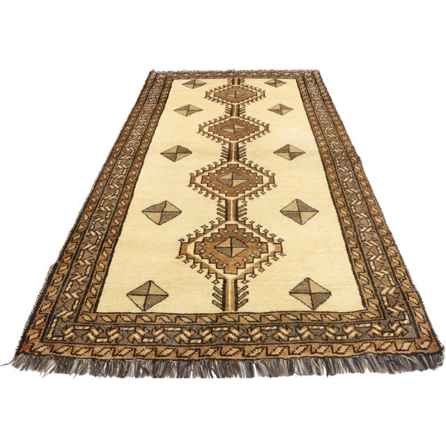"""1980s Vintage Persian Shiraz Rug - 3'5"""" x 6'9"""" For Sale - Image 5 of 11"""
