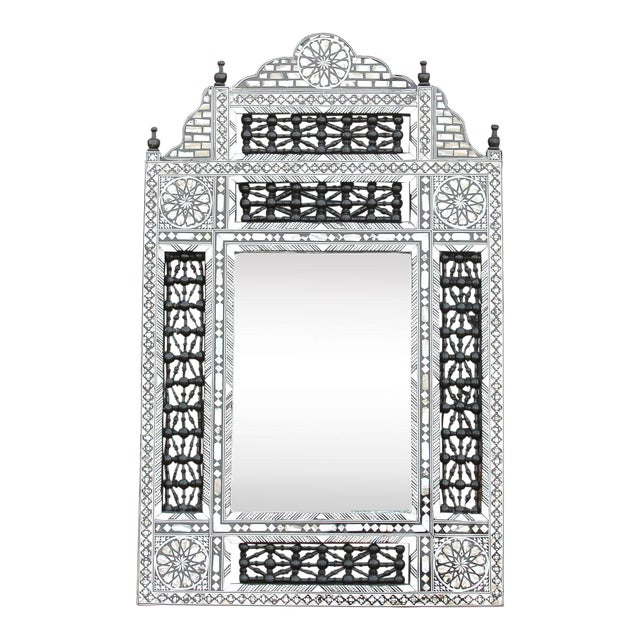 Beautiful Mother of Pearl Syrian Mirror For Sale
