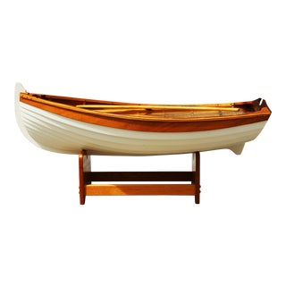 1970s Nautical Handmade Wooden Rowboat Coffee Table