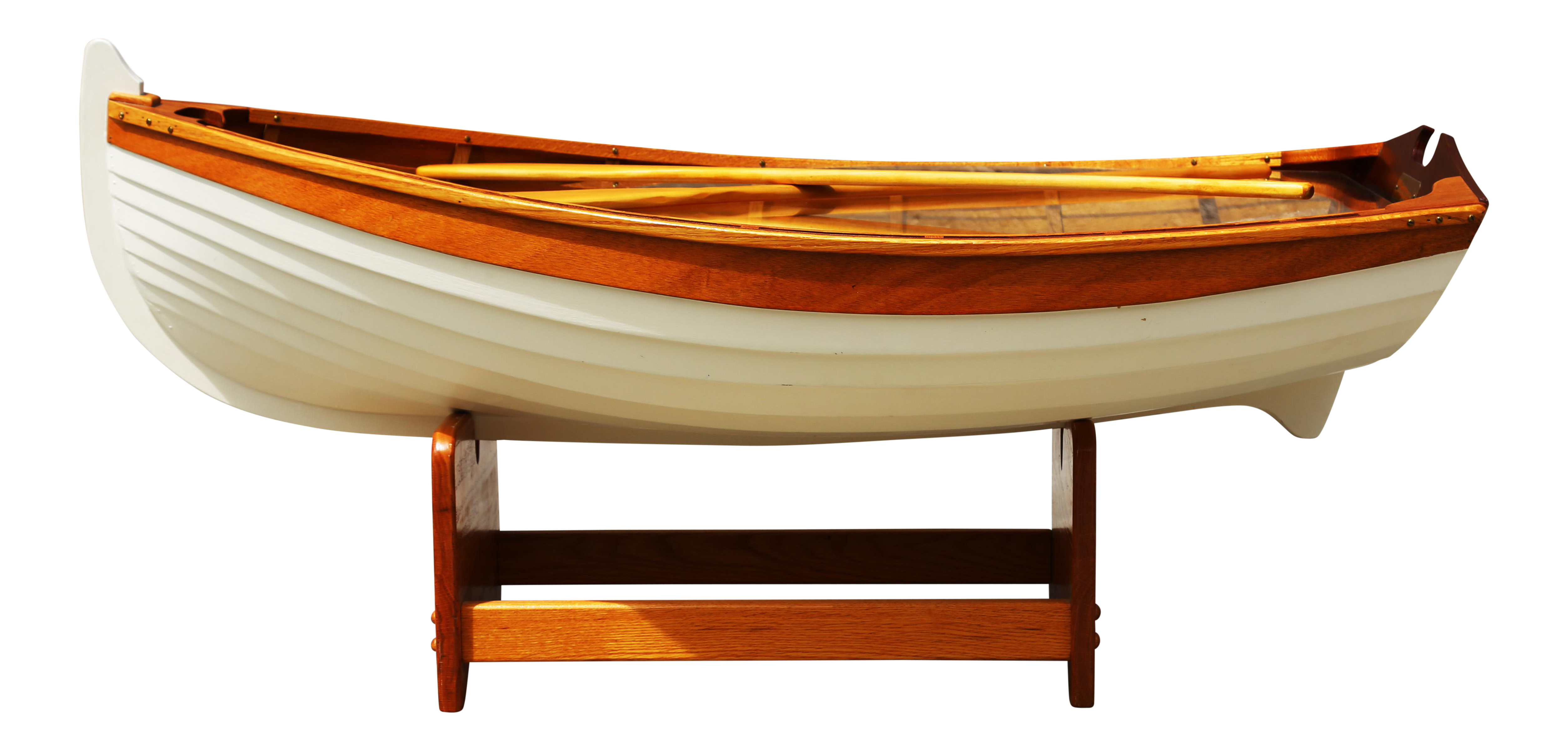 1970s Nautical Handmade Wooden Rowboat Coffee Table For Sale