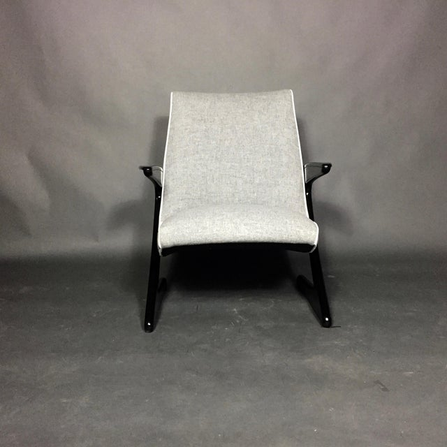 """Bengt Ruda """"Z"""" Ebonized Lounge Chair, Sweden 1950s For Sale In New York - Image 6 of 8"""