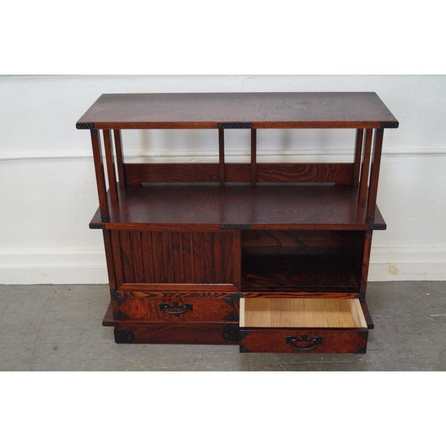 Chinese Arts & Crafts Red Elm Wood Narrow Console For Sale - Image 5 of 10