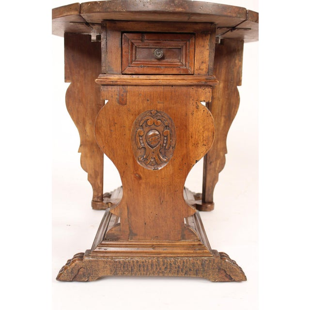 Baroque Style Drop Leaf Side Table For Sale In Los Angeles - Image 6 of 12