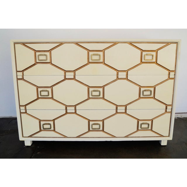 We have this absolutely drop-dead gorgeous three-drawer dresser/chest designed by the one-and-only Dorothy Draper for...