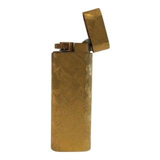 18-Karat Gold Plated Cartier Lighter For Sale