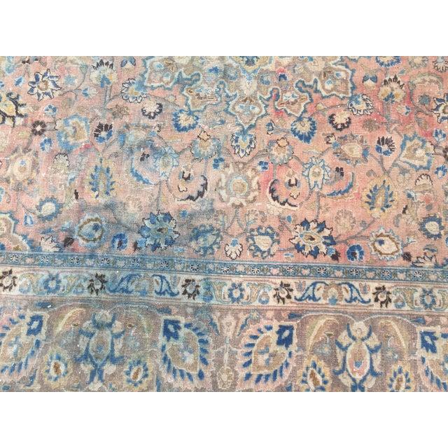 Persian Tribal Overize Handwoven Beige Floor Rug - 9′6″ × 12′5″ For Sale In Austin - Image 6 of 11