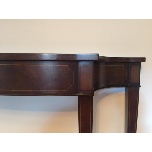 Vintage Demi Lune Console Table - Image 3 of 8